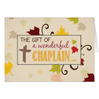 Chaplain Thanksgiving Gift Fall Leaves Card