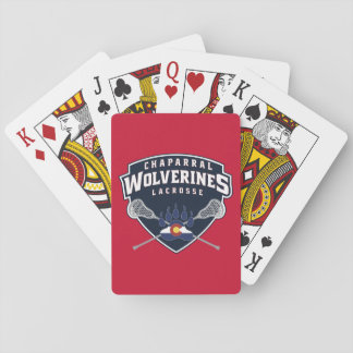ChapLAX Sticks Shield Standard Playing Cards