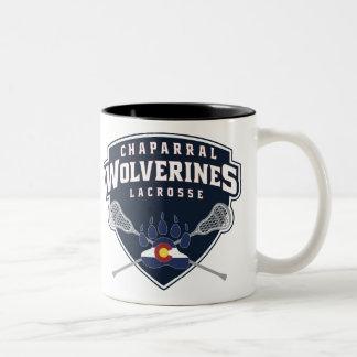 ChapLAX Wolverine Shield Two-Tone Mug