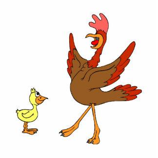 Chappy & Chippy chicken Standing Photo Sculpture