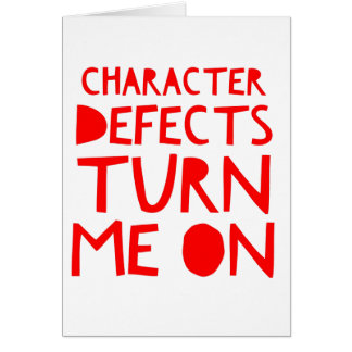 Character Defects Recovery Sober Drunk Card