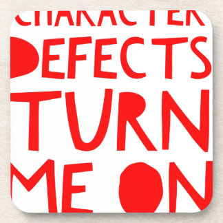 Character Defects Recovery Sober Drunk Coaster