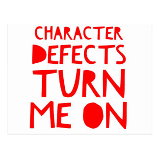 Character Defects Recovery Sober Drunk Postcard