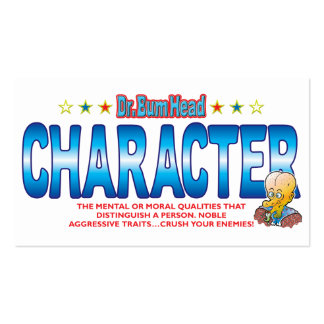 Character Dr Bum Head Business Cards