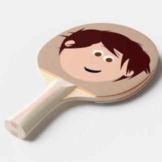 Character Face (brown hair) Ping Pong Paddle