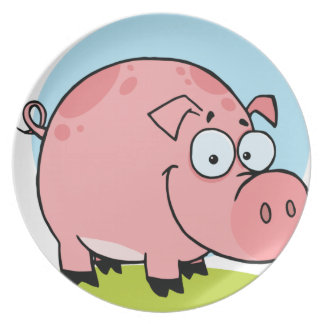 Character Happy Pig Dinner Plates