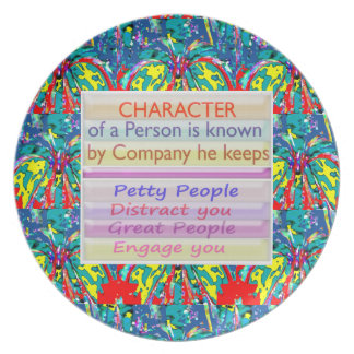 Character of a person ... plate