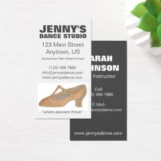 Character Shoe Dance Teacher Studio Choreographer Business Card