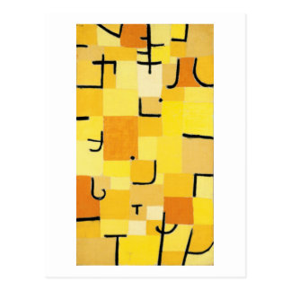 Characters in Yellow by Paul Klee Postcard