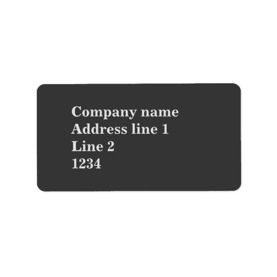 Charcoal Address Label