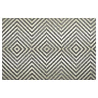 Charcoal and Beige Diamond Fabric