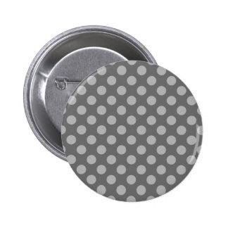 Charcoal and Gray Polka Dots 6 Cm Round Badge