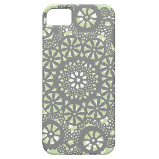 Charcoal and Mint Geometric Pattern Case For The iPhone 5