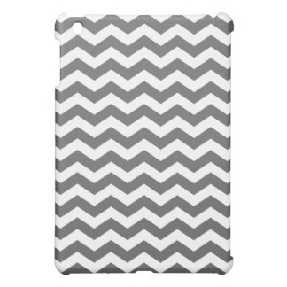 Charcoal and White Chevron Stripes Case For The iPad Mini
