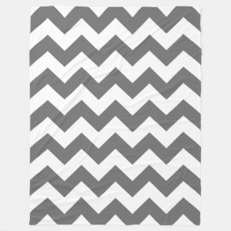Charcoal Chevron Fleece Blanket