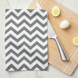 Charcoal Chevron Kitchen Towels
