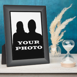 Charcoal Frame Your Photo 8 x 10 Vertical Plaque 2