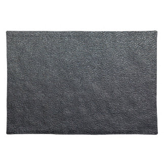 Charcoal Grain Faux Leather Placemat