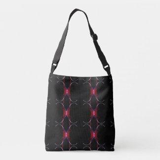 Charcoal Gray Hot Pink Seamless Pattern Crossbody Bag