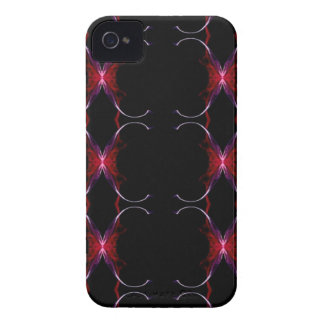 Charcoal Gray Hot Pink Seamless Pattern iPhone 4 Case