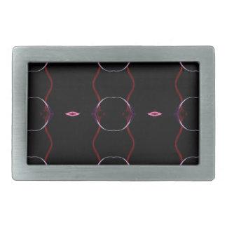 Charcoal Gray Hot Pink Seamless Pattern Rectangular Belt Buckles