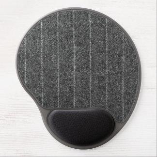 Charcoal Gray Pinstripe Tweed Slate Black Fabric Gel Mouse Mat