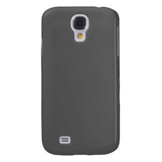 Charcoal Gray Solid Color Customize It Samsung Galaxy S4 Case