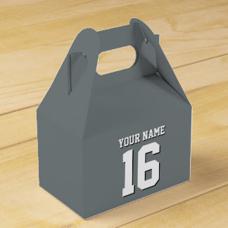 Charcoal Gray Sports Jersey Team Jersey Favour Box