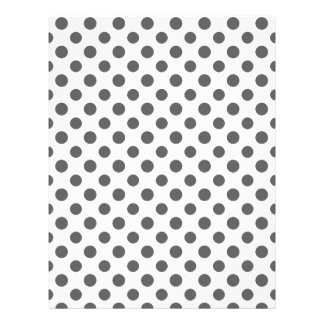 Charcoal Gray White Polka Dots Pattern Custom Flyer