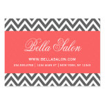 Charcoal Grey and Coral Modern Chevron Stripes Pack Of Chubby Business Cards