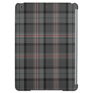 Charcoal Grey Black Red Tartan Plaid Cover For iPad Air