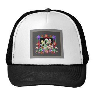Charcoal Grey Color Iris Garden Gifts Cap