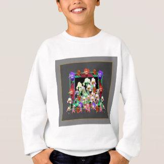 Charcoal Grey Color Iris Garden Gifts Sweatshirt