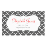 Charcoal Grey Modern Moroccan Scallop Pattern Pack Of Standard Business Cards