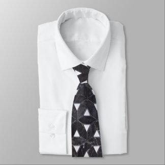 Charcoal Grey Mosaic Tie