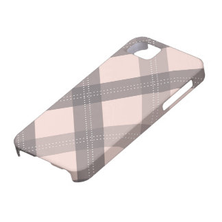 charcoal grey & pink plaid iphone 5 case