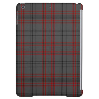 Charcoal Grey Red Black Tartan Plaid Cover For iPad Air