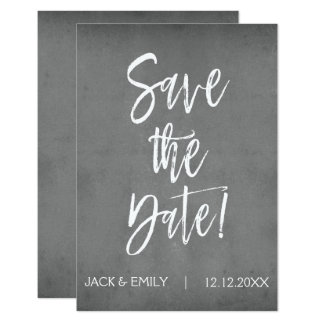 Charcoal Grey Save the Date Card