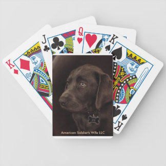 Charcoal Lab Playing Cards