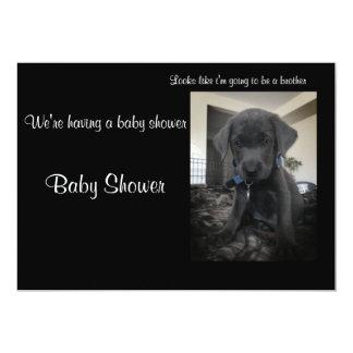 Charcoal labrador invitation, card