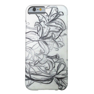 Charcoal Lilies iPhone Case