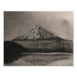 Charcoal Mountain Poster