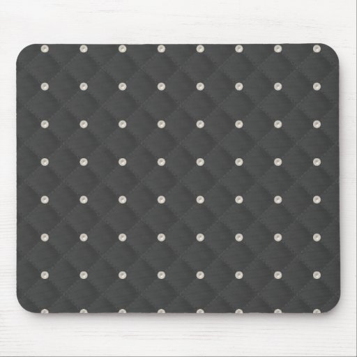 Charcoal Pearl Stud Quilted Mousepad