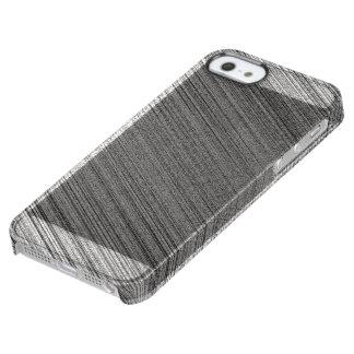 Charcoal Stitch Clear iPhone SE/5/5s Case