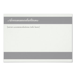 Charcoal Stripe Accomodations Card