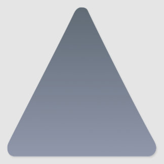Charcoal to Cool Gray Horizontal Gradient Triangle Sticker