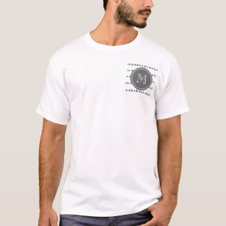 Charcoal White Aztec Arrows Monogram T-Shirt