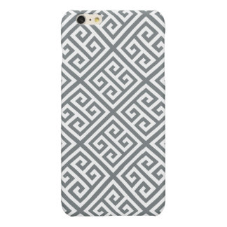 Charcoal White Med Greek Key Diag T Pattern #1