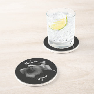 Charcoal Wildflower Inspire Coaster