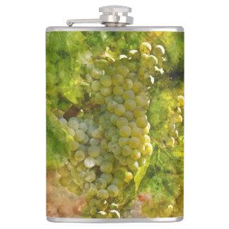 Chardonnay Grapes on the Vine Hip Flask